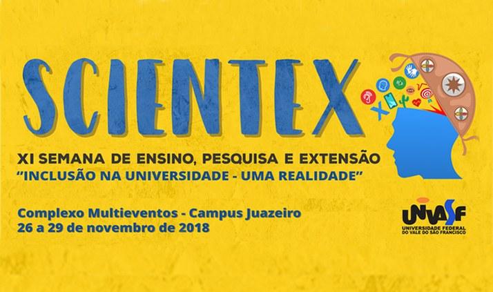 """XI Scientex """"Inclusão na Universidade - Uma Realidade"""""""