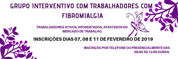 Inscrições Abertas: Grupo Interventivo com Trabalhadores com Fibromialgia