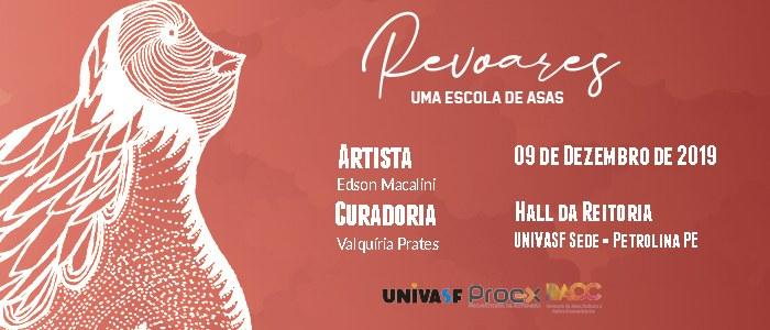 """Exposição """"Revoares"""" entra em cartaz na Reitoria da Univasf nesta segunda-feira (9)"""