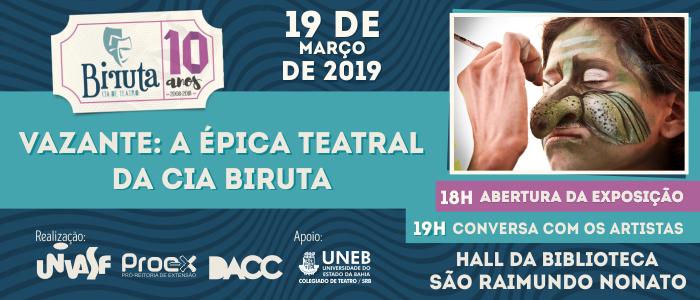 Exposição Vazante Cia Biruta em São Raimundo Nonato