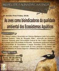 O evento acontecerá no dia 06 de abril no auditório do Museu de Fauna da Caatinga.