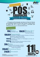 Aula Inaugural da Pós-Graduação em Ensino de Ciências terá palestra e apresentação cultural.