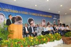 Reitor discursa na solenidade de autorização de funcionamento do Campus Salgueiro.