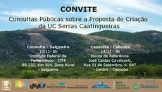 Consultas públicas visam à discussão da proposta de criação da Unidade de Conservação Serras Caatingueiras