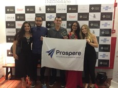 Representantes da Prospere Jr. na cerimônia do Prêmio da Fejepe, no Recife (PE).