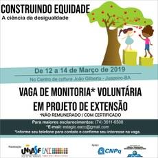 O evento está com inscrições abertas para monitores voluntários, ouvintes e escolas de ensino fundamental e médio.