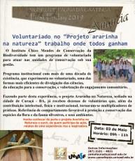 A palestra será realizada a partir das 9h, no Auditório do Museu de Fauna Caatinga.