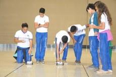 Estudantes do Colégio de Aplicação de Petrolina participaram de oficina de Robótica.