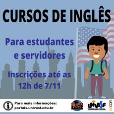 Servidores e estudantes podem se inscrever até amanhã.