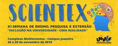 """XI Scientex terá como tema central """"Inclusão na Universidade - Uma Realidade""""."""