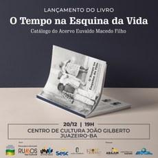 O lançamento vai acontecer no dia 20 de dezembro, no Centro de Cultura João Gilberto.