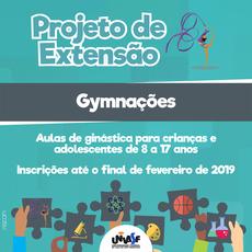 As inscrições para o Gymnações podem ser feitas até o final de fevereiro de 2019.