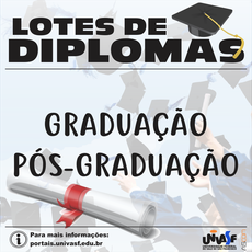 Univasf libera novo lote com 149 diplomas de graduação e pós-graduação.