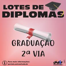 São 57 diplomas de graduação e uma segunda via.