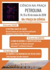 """O """"Ciência na Praça"""" acontecerá de 14 a 16 de maio, em Petrolina."""