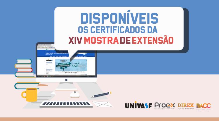 CERTIFICADOS - XIV MOSTRA DE EXTENSÃO