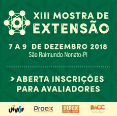 banner evento - XIII mostra de extensão