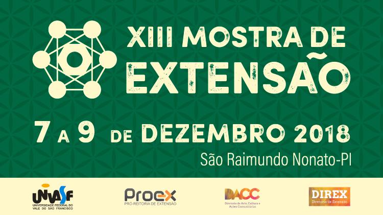 XIII MOSTRA DE EXTENSÃO