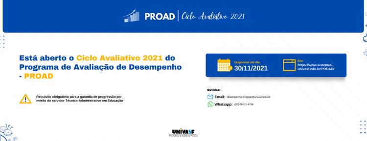 Está aberto o Ciclo Avaliativo 2021 do Programa de Avaliação de Desempenho - PROAD