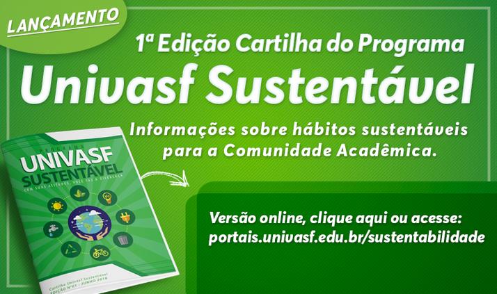 Cartilha Univasf Sustentável - Edição Nº 01