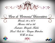 Curso de Cerimonial Universitário será realizado em novembro