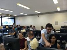 Treinamento do SIGRH, realizado ontem no Campus Sede.