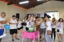 A festa terminou com os parabéns aos servidores.