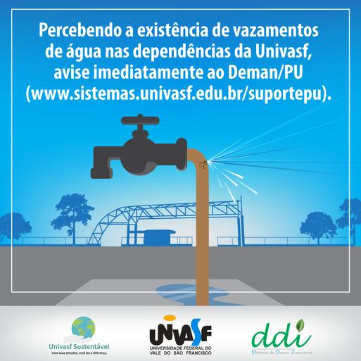 Campanha Univasf Sustentável 2016 - Água