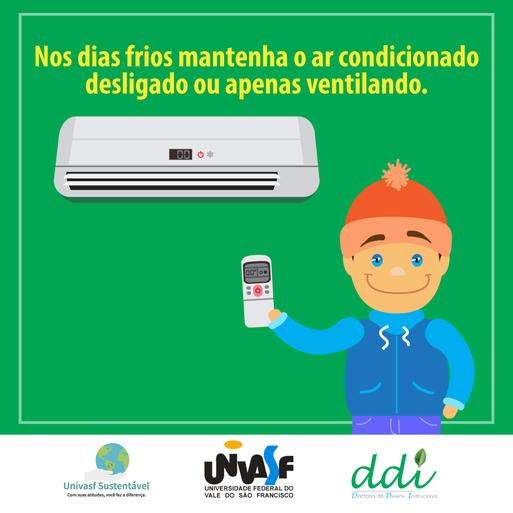 Campanha Univasf Sustentável 2016 - Ar Condicionado