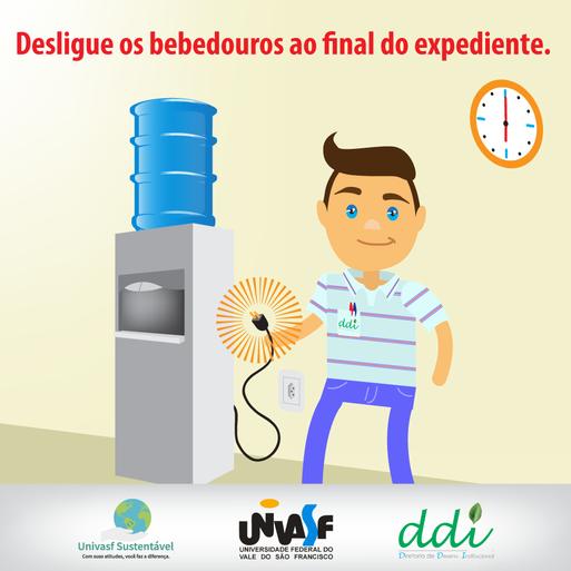 Campanha Univasf Sustentável 2016 - Bebedouro