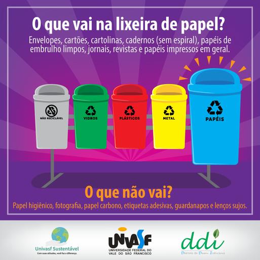 Campanha Univasf Sustentável 2016 - Coleta Seletiva