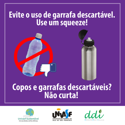 Campanha Univasf Sustentável 2016 - Copo descartável