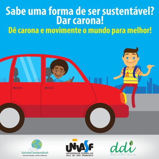 Campanha Univasf Sustentável 2016 - Deslocamento de Pessoal