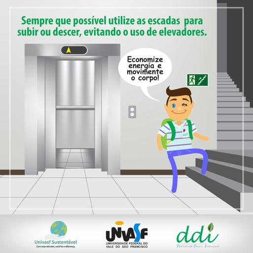 Campanha Univasf Sustentável 2016 - Elevador