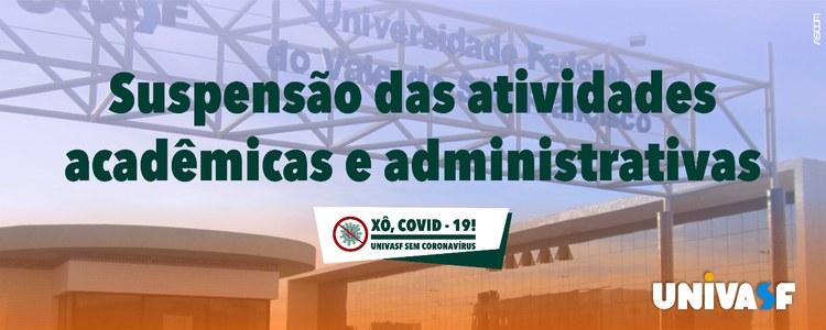 Univasf suspende atividades acadêmicas e administrativas